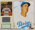 Miscellaneous, AUTOGRAPHED BROOKLYN DODGER FLATS. This handsome group of five d...