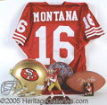 Miscellaneous, JOE MONTANA DISPLAY COLLECTION. This collection of Joe Montana d...