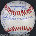 Miscellaneous, 1971 ST. LOUIS CARDINALS TEAM AUTOGRAPHED BALL. A beautiful 1...
