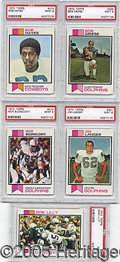 Miscellaneous, 1973 TOPPS FOOTBALL PSA 9 ALL DIFFERENT STARS. This lot includes...