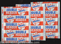 Miscellaneous, TRIO OF HIGH-GRADE 1955 TOPPS DOUBLEHEADER 1C WRAPPERS. Offered ...