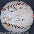 Miscellaneous, MULTI-SIGNED SUPERSTAR BALL. In 1931, during the darkest ho...