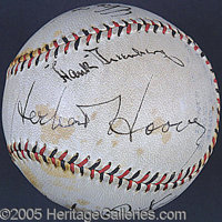 MULTI-SIGNED SUPERSTAR BALL. In 1931, duringthe darkest hours of the Great Depression, a sportswriter asked Ru...
