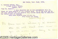 Miscellaneous, WALTER CAMP LETTER. Walter Camp is widely acknowledged as the 'F...
