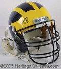 Miscellaneous, AUTOGRAPHED UNIV. OF MICHIGAN HELMET. This University of Michiga...