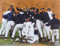 Miscellaneous, THE 1999 NEW YORK YANKEES. In jubilation of their World Serie...