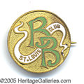 """Miscellaneous, RARE EARLY ST. LOUIS BASEBALL PIN. 3/4"""" enameled brass, with ori..."""