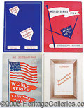 Miscellaneous, (4) ST. LOUIS WORLD SERIES PROGRAMS. A great lot of 1940's St...