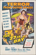 """Movie Posters:Science Fiction, The 27th Day & Other Lot (Columbia, 1957). Folded, Fine+. One Sheets (2) (27"""" X 41""""). Science Fiction.. ... (Total: 2 Items)"""