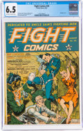 Golden Age (1938-1955):War, Fight Comics #20 (Fiction House, 1942) CGC FN+ 6.5 Off-white to white pages....