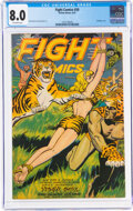 Golden Age (1938-1955):Adventure, Fight Comics #50 (Fiction House, 1947) CGC VF 8.0 Off-white pages....