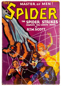 The Spider - October 1933 (Popular) Condition: VG-