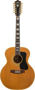 Musical Instruments:Acoustic Guitars, 1974 Guild F512 Natural 12 String Acoustic Guitar, Serial #99833.. ...