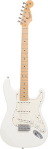 Musical Instruments:Electric Guitars, 2009 Fender Stratocaster White Solid Body Electric Guitar, Serial #Z9028683.. ...