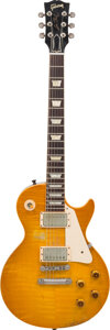 Musical Instruments:Electric Guitars, 2001 Gibson Les Paul Sunburst Solid Body Electric Guitar, Serial #8 11290.. ...