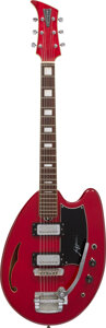 Musical Instruments:Electric Guitars, circa 1968 Apollo Red Semi-Hollow Body Electric Guitar, Serial #0003062.. ...