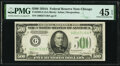 Fr. 2202-G $500 1934A Federal Reserve Note. PMG Choice Extremely Fine 45 EPQ