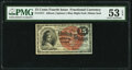 Fr. 1271 15¢ Fourth Issue PMG About Uncirculated 53 EPQ
