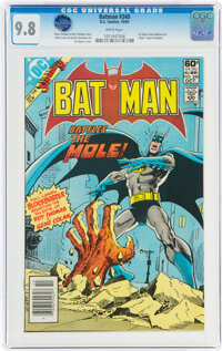 Batman #340 (DC, 1981) CGC NM/MT 9.8 White pages