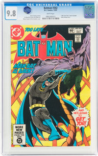 Batman #342 (DC, 1981) CGC NM/MT 9.8 White pages
