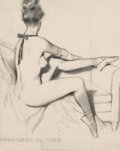 Works on Paper, Ascribed to Fritz Willis (American, 1907-1979). Seated Ballerina, preliminary work. Pencil on tracing paper. 11-1/4 x 8-...