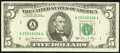 Green Ink Smears on Back Error Fr. 1976-A $5 1981 Federal Reserve Note. Very Fine