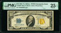 Small Size:World War II Emergency Notes, Fr. 2308* $10 1934 North Africa Silver Certificate Star. PMG Very Fine 25 EPQ.. ...