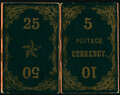 Fractional Currency:Fifth Issue, 1860's Fractional Currency Magic Wallet.. ... (Total: 2 items)