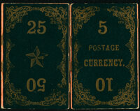 1860's Fractional Currency Magic Wallet