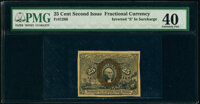 """Fr. 1286 25¢ Second Issue Inverted """"S"""" in Surcharge PMG Extremely Fine 40"""