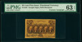 Fractional Currency:First Issue, Fr. 1281 25¢ First Issue Courtesy Autograph PMG Choice Uncirculated 63 EPQ.. ...