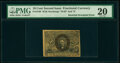 Milton 2R10.3c Fr. 1246 10¢ Second Issue Inverted Back Surcharge PMG Very Fine 20
