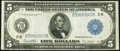 Fr. 851a $5 1914 Federal Reserve Note Very Fine+