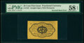 Fractional Currency:First Issue, Fr. 1281 25¢ First Issue Inverted Back PMG Choice About Unc 58 EPQ.. ...