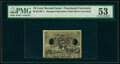 Milton 2E10F.1 10¢ Second Issue Baltimore Washington PMG About Uncirculated 53, 2 POCs