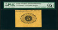 Fractional Currency:First Issue, Fr. 1231SP 5¢ First Issue Courtesy Autograph PMG Gem Uncirculated 65 EPQ.. ...