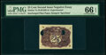 Fractional Currency:Second Issue, Milton 2E25R.1d 25¢ Second Issue PMG Gem Uncirculated 66 EPQ, 2 POCs.. ...