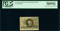 Fr. 1283 25¢ Second Issue Treasury Rectangle PCGS Choice About New 58PPQ