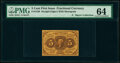 Fr. 1230 5¢ First Issue Inverted Back PMG Choice Uncirculated 64