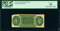 Fractional Currency:Third Issue, Fr. 1331 Milton 3R50.19l 50¢ Third Issue Spinner Inverted Back Surcharge PCGS Very Fine 30.. ...