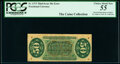 Fractional Currency:Third Issue, Fr. 1373 50¢ Third Issue Justice Inverted Back Surcharge PCGS Choice About New 55.. ...
