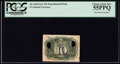 Fractional Currency:Second Issue, Milton 2E10R.4 10¢ Second Issue PCGS Choice About New 55P...