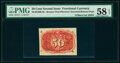 Milton 2E50R.4b 50¢ Second Issue Inverted Back Surcharge PMG Choice About Unc 58 EPQ