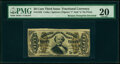 Fractional Currency:Third Issue, Fr. 1332 50¢ Third Issue Spinner Inverted Back Surcharge PMG Very Fine 20.. ...