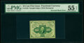 Fractional Currency:First Issue, Fr. 1242 10¢ First Issue Inverted Back PMG About Uncirculated 55 EPQ.. ...