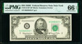 Fr. 2112-B* $50 1950E Federal Reserve Star Note. PMG Gem Uncirculated 66 EPQ