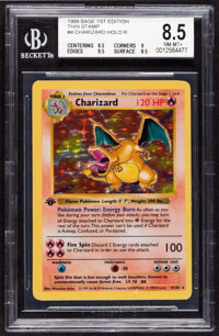 Pokémon Charizard #4 First Edition Base Set Rare Hologram Trading Card (Wizards of the Coast, 1999) BGS NM-MT+ 8...