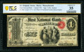 Barre, MA - $1 Original Fr. 380a The First National Bank Ch. # 96 PCGS Banknote Choice VF 35