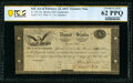 TN-14a Hessler X83C $10 Act of February 24, 1815 Treasury Note Double Signature Remainder PCGS Banknote Uncirculated 62...