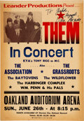 Music Memorabilia:Posters, Them 1966 Boxing-Style Concert Poster Signed by Van Morrison (AOR-2.277)....